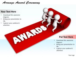 0214 Arrange Award Ceremony Ppt Graphics Icons Powerpoint