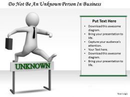 0214 Do Not Be An Unknown Person In Business Ppt Graphics Icons Powerpoint