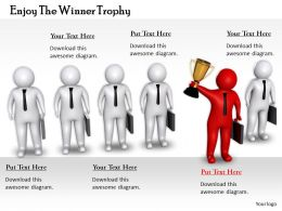0214 Enjoy The Winner Trophy Ppt Graphics Icons Powerpoint
