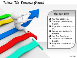 0214 Follow The Business Growth Ppt Graphics Icons Powerpoint