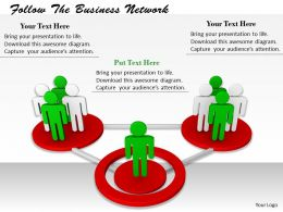 0214 Follow The Business Network Ppt Graphics Icons Powerpoint