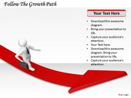 0214 Follow The Growth Path Ppt Graphics Icons Powerpoint