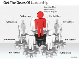 0214 Get The Gears Of Leadership Ppt Graphics Icons Powerpoint