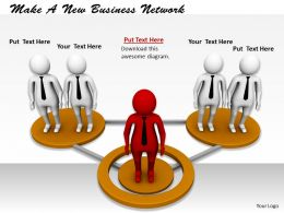 0214 Make A New Business Network Ppt Graphics Icons Powerpoint