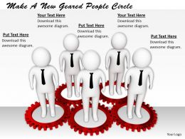 0214 Make A New Geared People Circle Ppt Graphics Icons Powerpoint