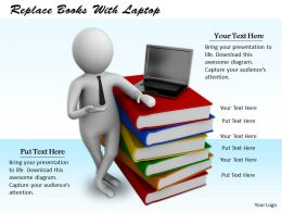 0214 Replace Books With Laptop Ppt Graphics Icons Powerpoint