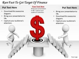 0214 Run Fast To Get Target Of Finance Ppt Graphics Icons Powerpoint