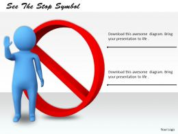 0214 See The Stop Symbol Ppt Graphics Icons Powerpoint