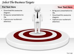 0214 Select The Business Targets Ppt Graphics Icons Powerpoint