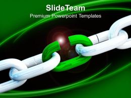 0313 3d Illustration Of Broken Chain Business Concept PowerPoint Templates PPT Themes And Graphics