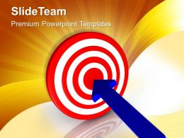 0313 Arrow Hitting Target Business Goals Success PowerPoint Templates PPT Themes And Graphics