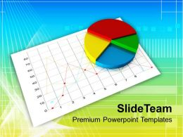 0313 Business Pie Chart On White Graph PowerPoint Templates PPT Themes And Graphics