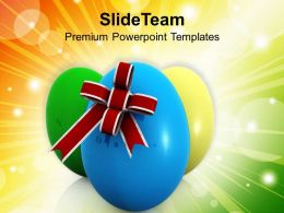 0313_elegant_easter_eggs_with_bow_festival_powerpoint_templates_ppt_themes_and_graphics_Slide01