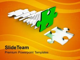 0313 Falling Jigsaw Puzzle Piece Business Teamwork PowerPoint Templates PPT Themes And Graphics