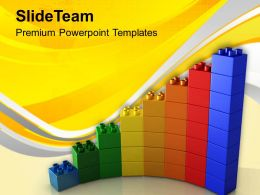0313 Growth Of Business With Lego Blocks PowerPoint Templates PPT Themes And Graphics