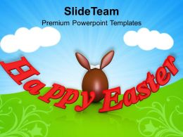 0313 Happy Easter Religious Festival PowerPoint Templates PPT Themes And Graphics