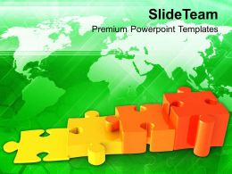 0313 Increasing Problems Puzzle Bar Graph PowerPoint Templates PPT Themes And Graphics
