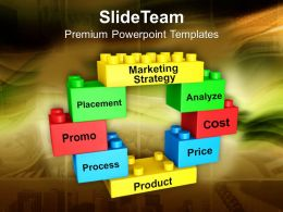 0313 Lego Blocks Forming Circle Marketing Strategy PowerPoint Templates PPT Themes And Graphics