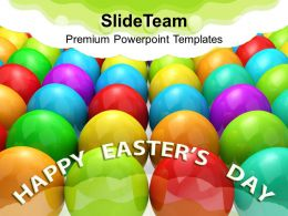 0313 Multicolored Eggs Christian Festival PowerPoint Templates PPT Themes And Graphics