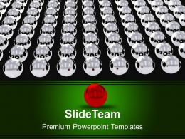0313 Red Leader With Silver Balls Team PowerPoint Templates PPT Themes And Graphics