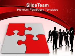 0313 Red Puzzle With Businessmen Standing PowerPoint Templates PPT Themes And Graphics