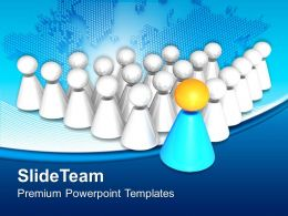 0313 Team Follows The Leader Leadership Business PowerPoint Templates PPT Themes And Graphics