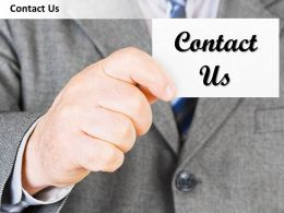 0314 Business Man With Contact Us Card