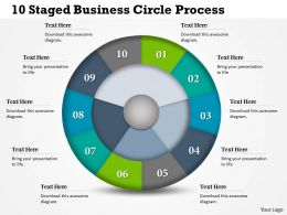 0314 Business Ppt Diagram 10 Staged Business Circle Process Powerpoint Template