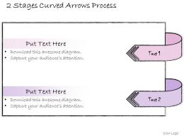 0314 Business Ppt diagram 2 Stages Curved Arrows Process Powerpoint Template