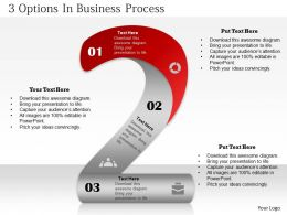 0314 Business Ppt Diagram 3 Options in Business Process Powerpoint Template