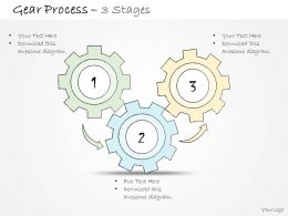0314 Business Ppt Diagram 3 Staged Business Gear Process Powerpoint Template