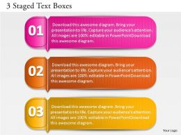 0314 Business Ppt Diagram 3 Staged Text Boxes Powerpoint Template