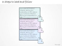 0314 Business Ppt diagram 3 Steps To Lead And Follow Process Powerpoint Template