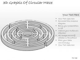 0314 Business Ppt Diagram 3d Graphic Of Circular Maze Powerpoint Templates