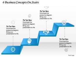 0314 Business Ppt Diagram 4 Business Concepts On Stairs Powerpoint Template
