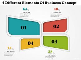 0314 Business Ppt Diagram 4 Different Elements Of Business Concept Powerpoint Template