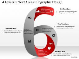 0314 Business Ppt Diagram 4 Levels In Text Areas Infographic Design Powerpoint Template