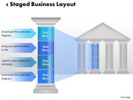 0314 Business Ppt Diagram 4 Staged Business Layout Powerpoint Template