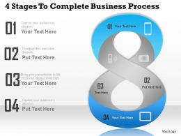 0314 Business Ppt Diagram 4 Stages To Complete Business Process Powerpoint Template