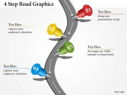 0314 Business Ppt Diagram 4 Steps Road Graphics Powerpoint Template