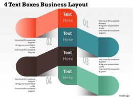 0314 Business Ppt Diagram 4 Text Boxes Business Layout Powerpoint Template