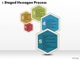 0314 Business Ppt Diagram 5 Staged Hexagon Process Powerpoint Template