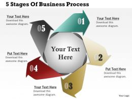 0314 Business Ppt Diagram 5 Stages Of Business Process Powerpoint Template