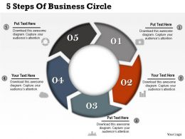 0314 Business Ppt Diagram 5 Steps Of Business Circle Powerpoint Template