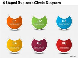 0314 Business Ppt Diagram 6 Staged Business Circle Diagram Powerpoint Template