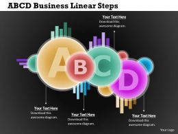0314 Business Ppt Diagram ABCD Business Linear Steps Powerpoint Template