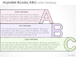 0314 Business Ppt diagram Alphabet Blocks ABC With Textboxes Powerpoint Template