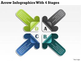 0314 Business Ppt Diagram Arrow Infographics With 4 Stages Powerpoint Template
