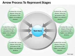 0314 Business Ppt Diagram Arrow Process To Represent Stages Powerpoint Template