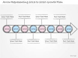 0314 Business Ppt Diagram Arrow Representing Yearly Growth Plans Powerpoint Template